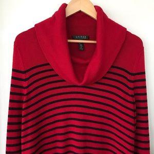 Ralph Lauren wool blend cowl neck sweater
